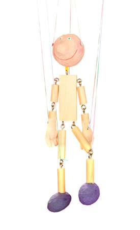Wooden puppet isolated on white Stock Photo - 14178822