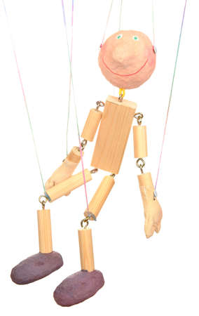 Wooden puppet isolated on white Stock Photo - 14178987