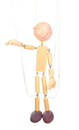 Wooden puppet isolated on white Stock Photo - 14178821