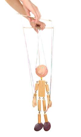 marioneta: Marioneta de madera aislado en blanco