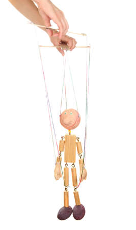 Wooden puppet isolated on white Stock Photo - 14178826