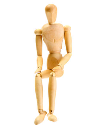 wooden mannequin isolated on white Stock Photo - 14178927