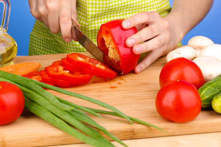 Chopping food ingredients Stock Photo - 14272839
