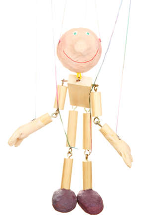 Wooden puppet isolated on white Stock Photo - 14304846