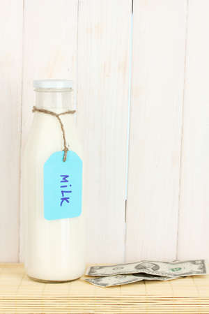 Concept of delivery milk photo