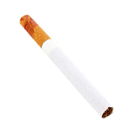 Cigarette butt isolateed on white photo