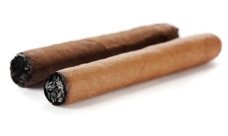 cigars isolated on white photo