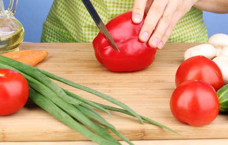 Chopping food ingredients Stock Photo - 14358030