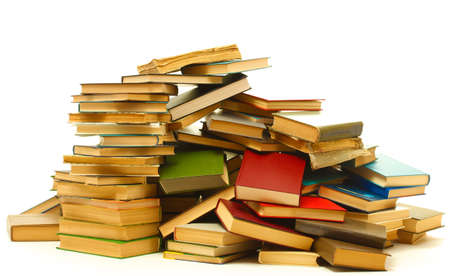 old books isolated on white Stock Photo - 14357778