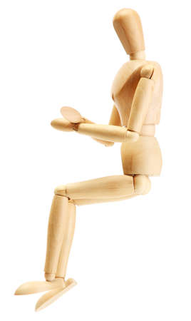 wooden mannequin isolated on white Stock Photo - 14356988
