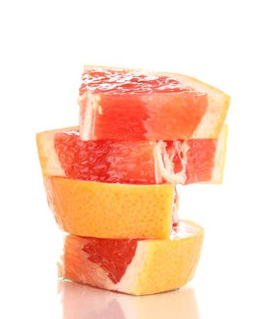 grapefruit: Sliced grapefruit isolated on white Stock Photo