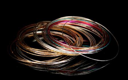 Beautiful bracelet isolated on black background Stock Photo - 14357631