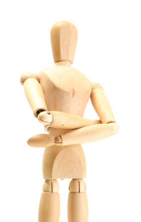 wooden mannequin isolated on white Stock Photo - 14434973