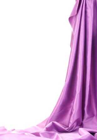 silk: purple silk drape isolated on white