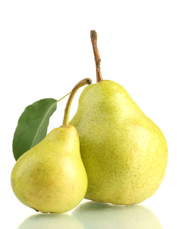 pears: Juicy flavorful pears isolated on white Stock Photo