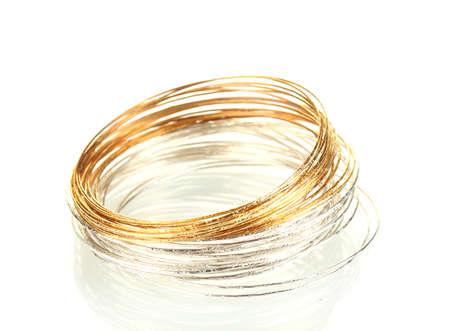 Beautiful bracelet isolated on white background photo