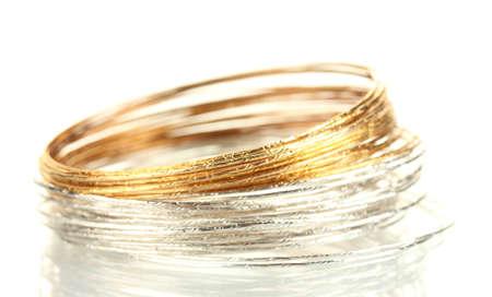 Beautiful bracelet isolated on white background Stock Photo - 14536455