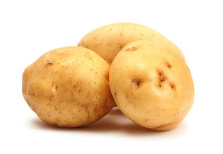 spud: fresh potatoes isolated on white