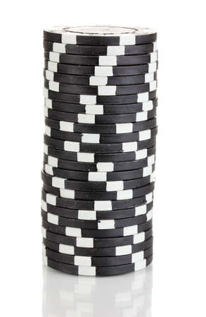 Casino chips isolated on white photo