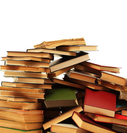 old books isolated on white Stock Photo - 14623528