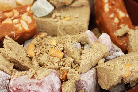 sorbet: orientalne słodycze - sorbet, chałwa i turkish delight close-up
