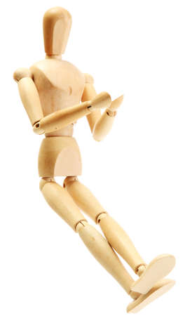 wooden mannequin isolated on white Stock Photo - 14706546