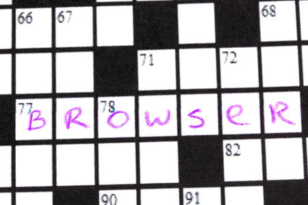 Crossword puzzle close-up photo