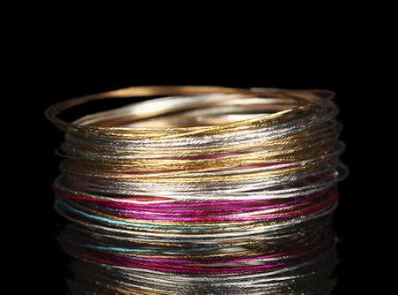 Beautiful bracelet isolated on black background Stock Photo - 14707376