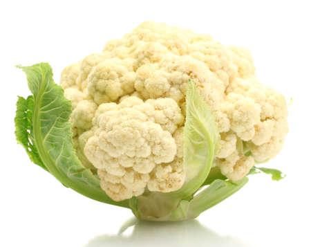 cauliflower: Fresh cauliflower isolated on white