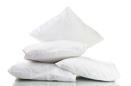 bed sheet: pillows isolated on white