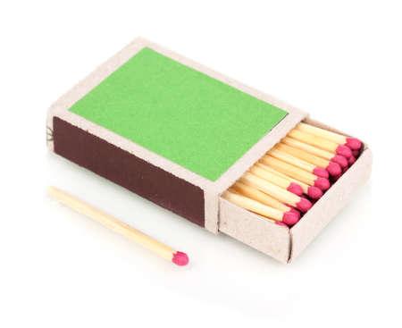 pyromaniac: matches isolated on white Stock Photo