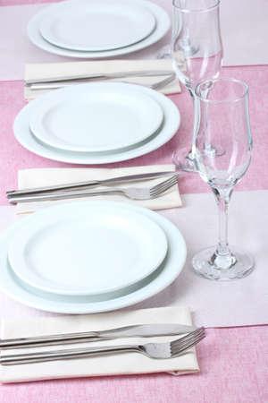 buffet table: elegant holiday table setting
