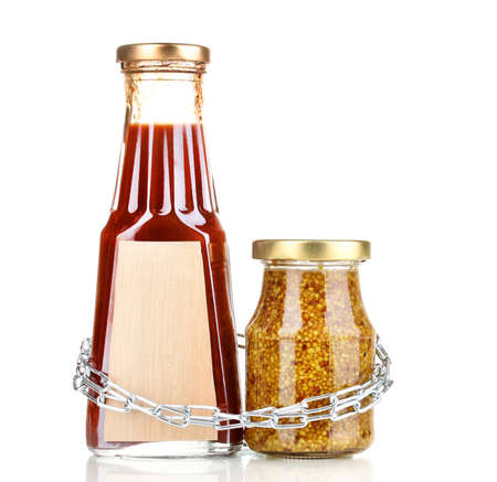 distinctive flavor: Secret ingredients with chain isolated on white Stock Photo