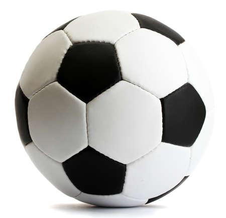 bola: bola de futebol, isolado no branco Banco de Imagens