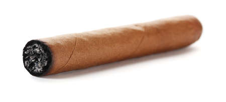 cigar isolated on white photo