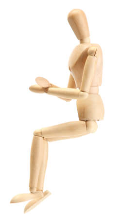 wooden mannequin isolated on white Stock Photo - 14734473