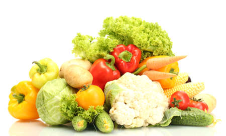 Fresh vegetables isolated on white Stock Photo - 14735427