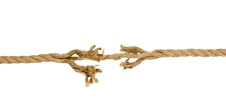 rompiendo: Romper la cuerda aislados en blanco
