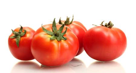 tomaten geà ¯ soleerd op wit