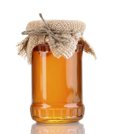 Doux le miel en pot isolé sur blanc Banque d'images - 14763519