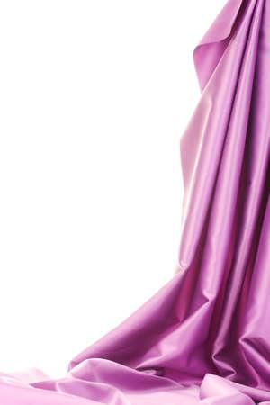 telon de fondo: pa�o de seda p�rpura aislado en blanco