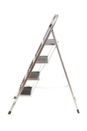 stepladder: metal ladder isolated on white