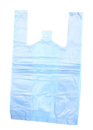 Cellophane bag isolated on white photo