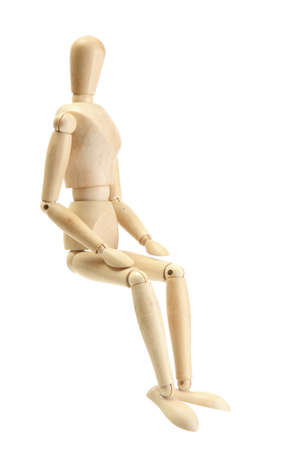 marioneta de madera: maniqu� de madera aislado en blanco