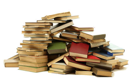 old books isolated on white Stock Photo - 14829771