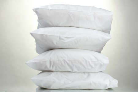 pillows, on grey background Stock Photo - 15198385