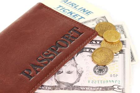 Passport and ticket close-up Stock Photo - 15198850