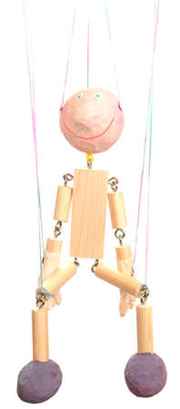 Wooden puppet isolated on white Stock Photo - 14906835
