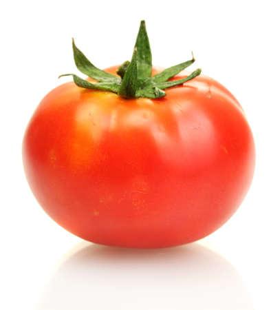 토마토에 격리 된 화이트 스톡 콘텐츠