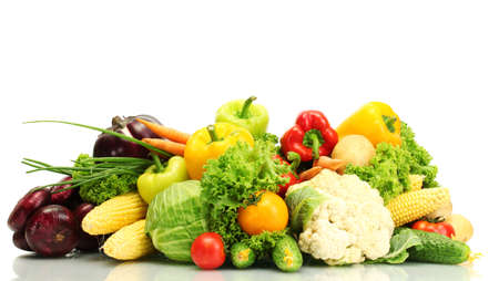 Fresh vegetables isolated on white Stock Photo - 14907308